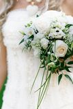 Bride with wedding bouquet Royalty Free Stock Image