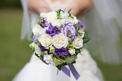 The bride with a wedding bouquet. Bride with a wedding bouquet Royalty Free Stock Images