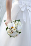 The bride with a wedding bouquet. Bride with a wedding bouquet Stock Image
