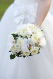 The bride with a wedding bouquet Royalty Free Stock Photo
