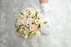 The bride with a wedding bouquet. Bride with a wedding bouquet Royalty Free Stock Photo