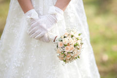 The bride with a wedding bouquet. Bride with a wedding bouquet Stock Photo