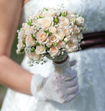 The bride with a wedding bouquet. Bride with a wedding bouquet Royalty Free Stock Image