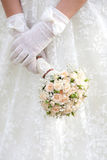 The bride with a wedding bouquet Stock Images