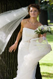 Bride with wedding bouquet. #4. Beautiful bride with wedding bouquet. #4 royalty free stock images