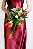 Bride and wedding bouquet Stock Images