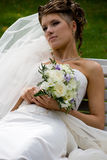 Bride with wedding bouquet. #5 royalty free stock photo