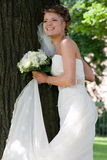 Bride with wedding bouquet. #8. Beautiful bride with wedding bouquet. #8 royalty free stock images