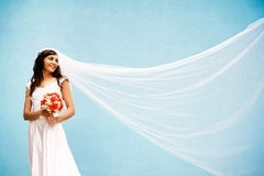 Bride with a wedding bouquet Royalty Free Stock Image