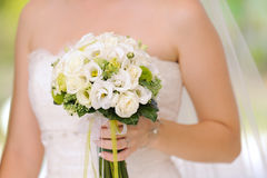 Bride with Wedding Bouquet Stock Photos