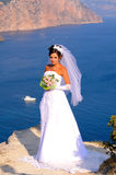 Bride. Wedding at Cape Fiolent against the sea Stock Photography