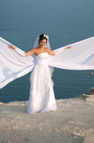 Bride. Wedding at Cape Fiolent against the sea Royalty Free Stock Photos