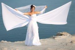 Bride. Wedding at Cape Fiolent against the sea Stock Photo