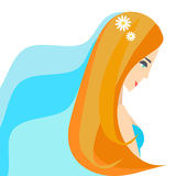 Bride in wedding clothes. Vector Stock Photos
