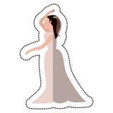 Bride wedding dance pose. Illustration eps 10 Stock Image