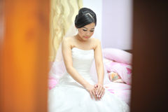 Bride in wedding day Royalty Free Stock Photos