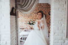 Bride wedding day best in my life. Bride wedding day. best day in my life royalty free stock photo