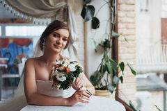 Bride wedding day best in my life. Bride wedding day. best day in my life royalty free stock images