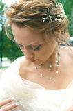 Bride in a wedding dress Stock Photos