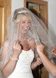 Bride and wedding dress Stock Photo