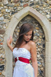 Bride in wedding dress Royalty Free Stock Image