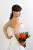 Bride in a wedding dress Stock Photo