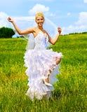 Bride in wedding dress. Royalty Free Stock Photos