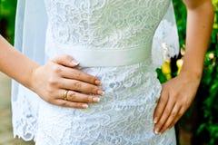 Bride in wedding dress Royalty Free Stock Photos
