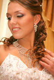 Bride in wedding dress Royalty Free Stock Images