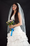 Bride in a wedding dress Royalty Free Stock Photography