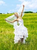 Bride in wedding dress. Royalty Free Stock Image