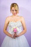 Bride in a wedding dress pre wedding portrait Royalty Free Stock Image