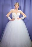 Bride in a wedding dress pre wedding portrait Stock Photography