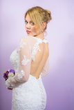 Bride in a wedding dress pre wedding portrait Royalty Free Stock Photos