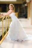 Bride in a wedding dress pre wedding portrait. Young bride in a wedding dress pre wedding portrait Stock Images