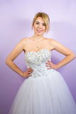 Bride in a wedding dress pre wedding portrait Stock Photo