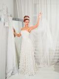 Bride in wedding dress Stock Image