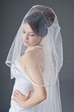 Bride in wedding dress in studio Stock Photos