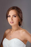 Bride in wedding dress studio shooting Royalty Free Stock Photography