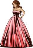Bride in wedding dress. Vector illustration vector illustration