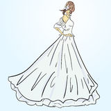 Bride in wedding dress white Royalty Free Stock Photos