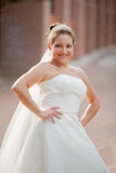 Bride in a wedding dress Royalty Free Stock Image