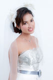 Bride With Wedding Dress Royalty Free Stock Image
