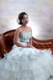 Bride With Wedding Dress Royalty Free Stock Photos