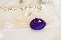 Bride Wedding Garter Stock Image