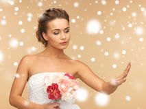 Bride with wedding ring Royalty Free Stock Image