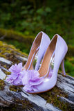 Bride Wedding Shoes Stock Photo