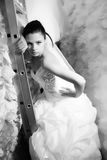 Bride in wedding shop Stock Image