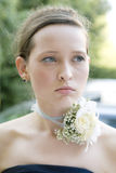 Bride before wedding standing at street Stock Photography