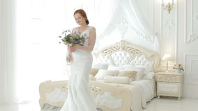 Bride is whirling in the dance. stock footage